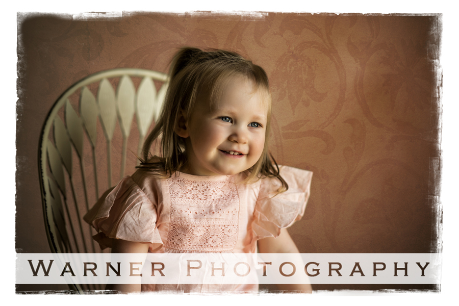 2nd Birthday classic portrait of Evie for her Birthday Club Session at the Warner Photography Studio