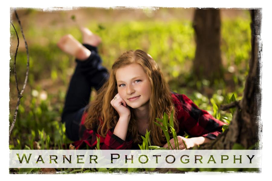 Rebekah Senior portrait at Dow Gardens class of 2019