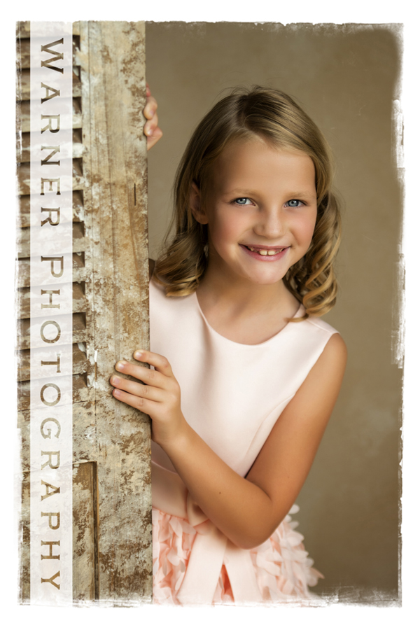 A Back to School studio portrait of Addy at the Warner Photography studio in Midland Michigan