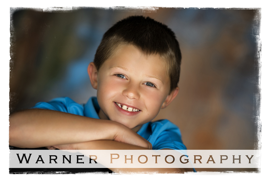 A classic Back to School portrait of Benjamin at the Warner Photography Studio in Midland Michigan