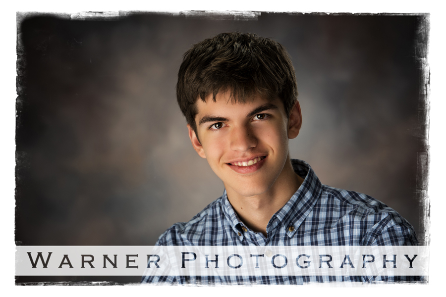 A studio portrait of Connor for a Back to School session traditional portrait