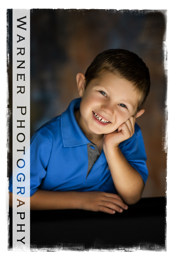 A Back to School portrait of Drew at the Warner Photography Studio in Midland Michigan