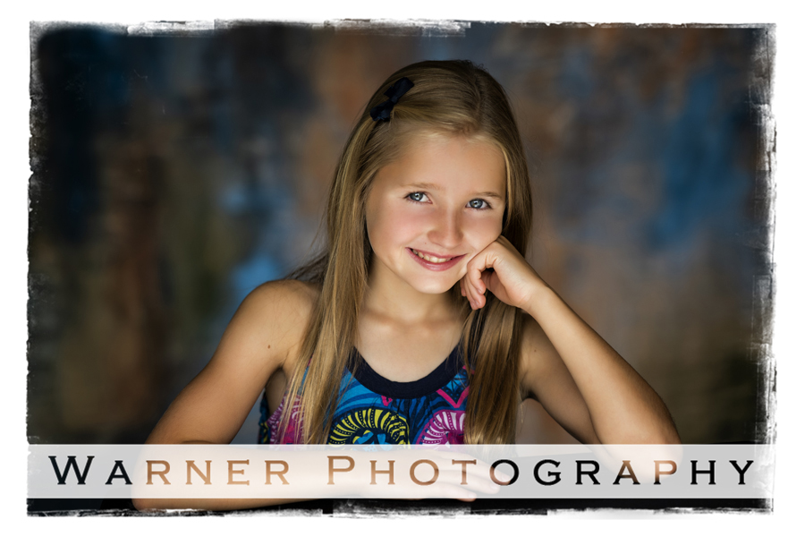 A Back to School portrait of Hannah at the Warner Photography Studio in Midland Michigan
