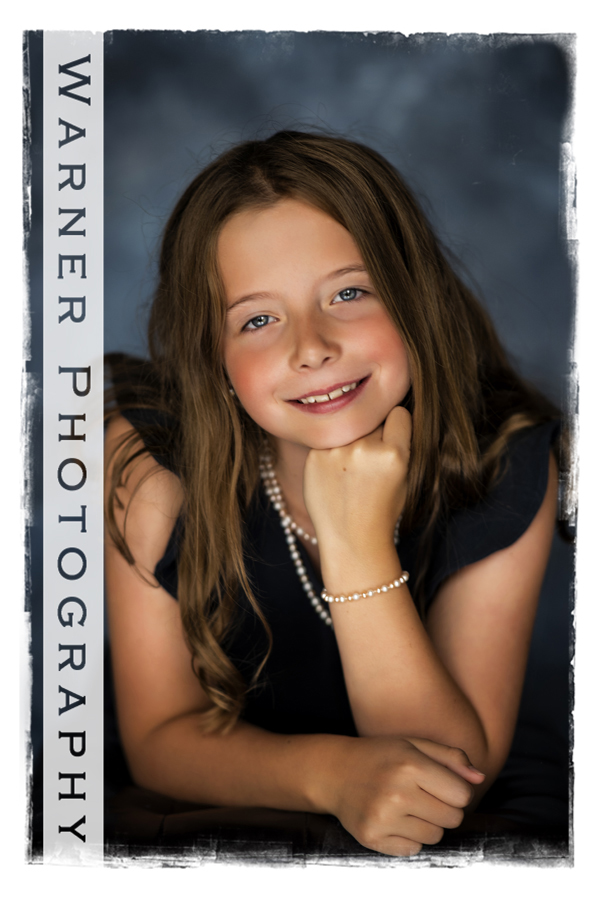 A traditional studio portrait of Jocelyn for her Back to School session