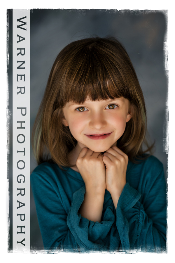 Traditional Back to School Portrait of Kenley at the Warner Photography Studio