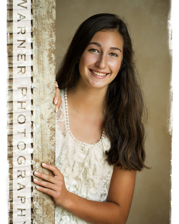 Back to School portrait of Sidney at the Warner Photography Studio