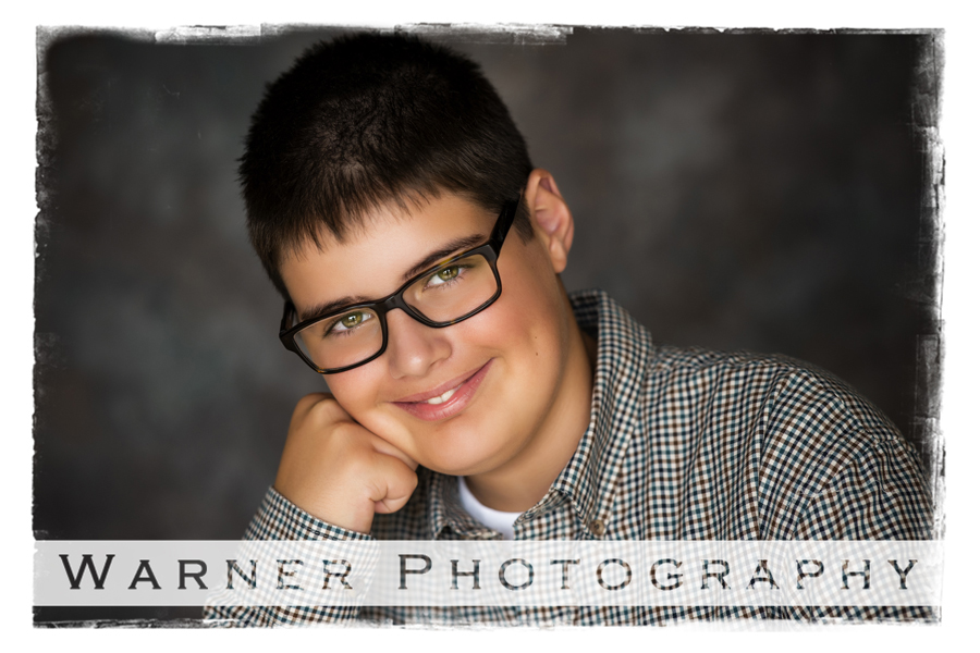 Back to School portrait of Will at the studio