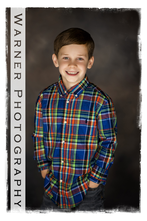 Traditional Back to School Portrait of Andrew and Myles at the Warner Photography Studio