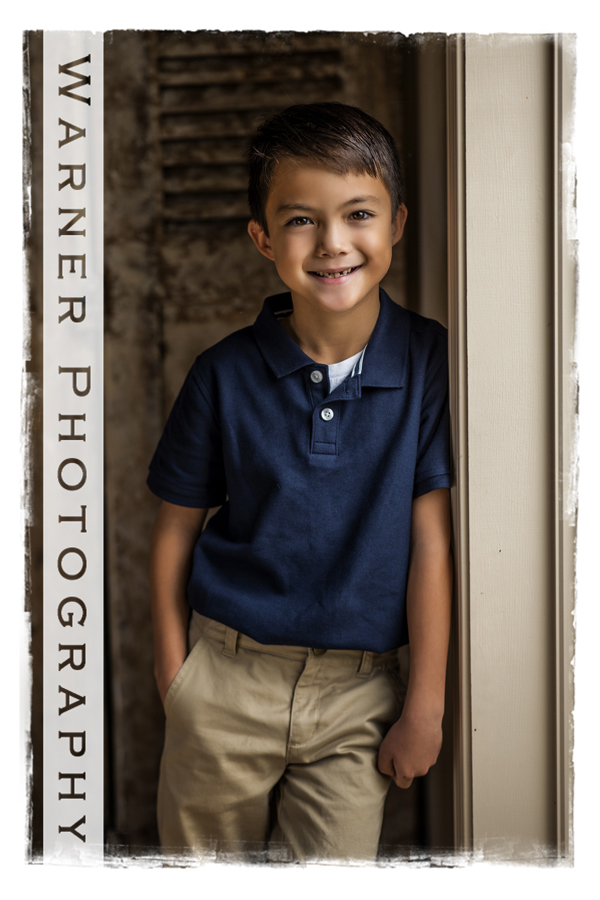 Traditional Studio portrait of Gregory for his Back to School session