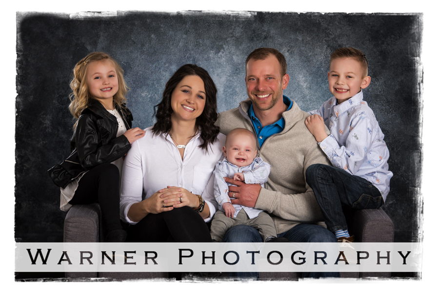 Family portrait kids studio just because
