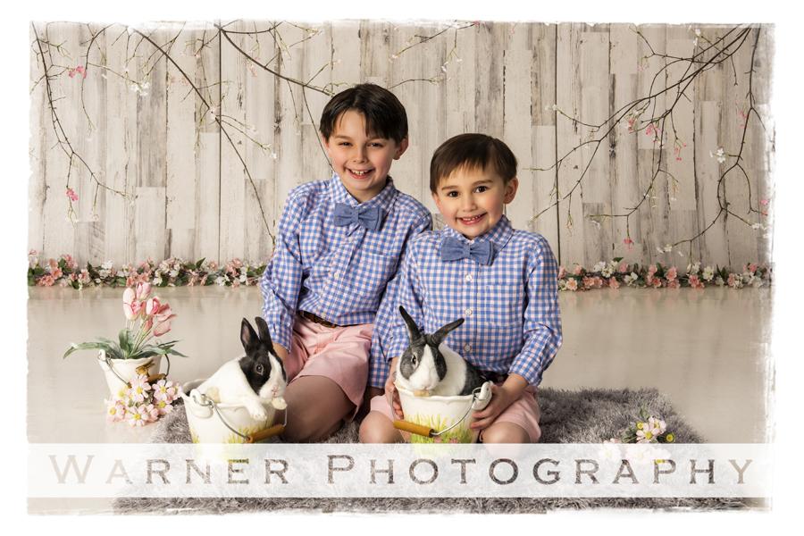 Holiday Easter portrait Ian Anson bunnies bunny spring flowers