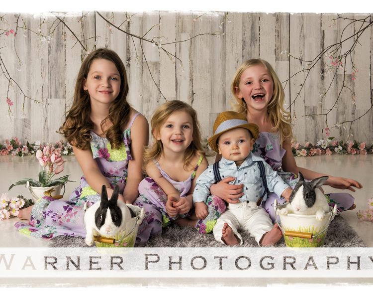 Grace, Claire, Abby and Henry-Easter-Picture