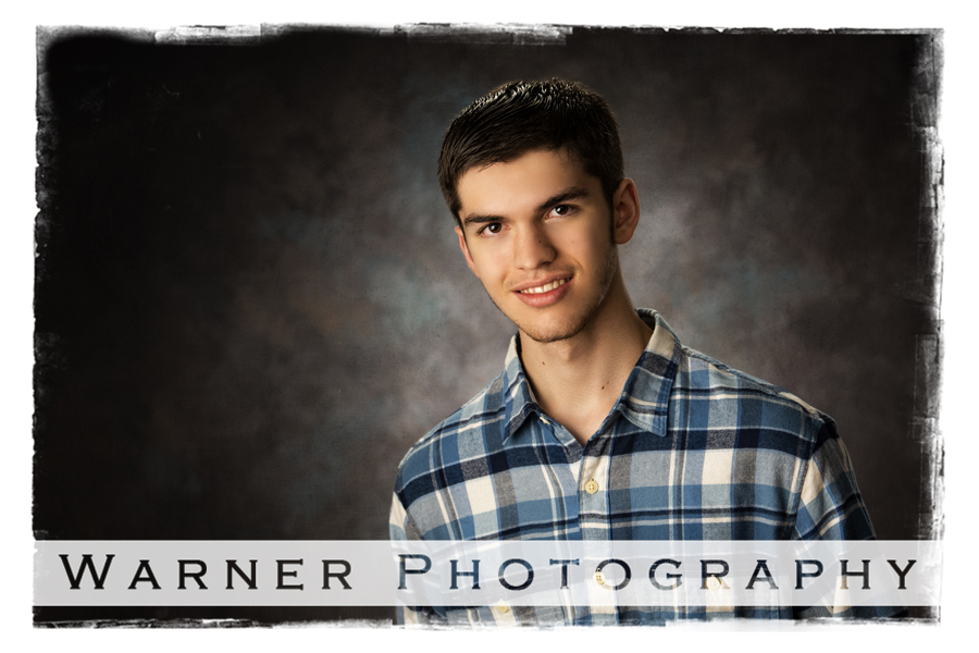 Studio portrait of Connor for his Back to School pictures