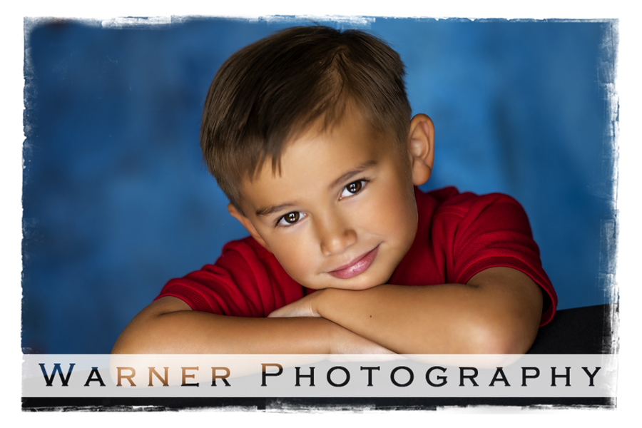 Studio portrait of Anson for his Back to School session