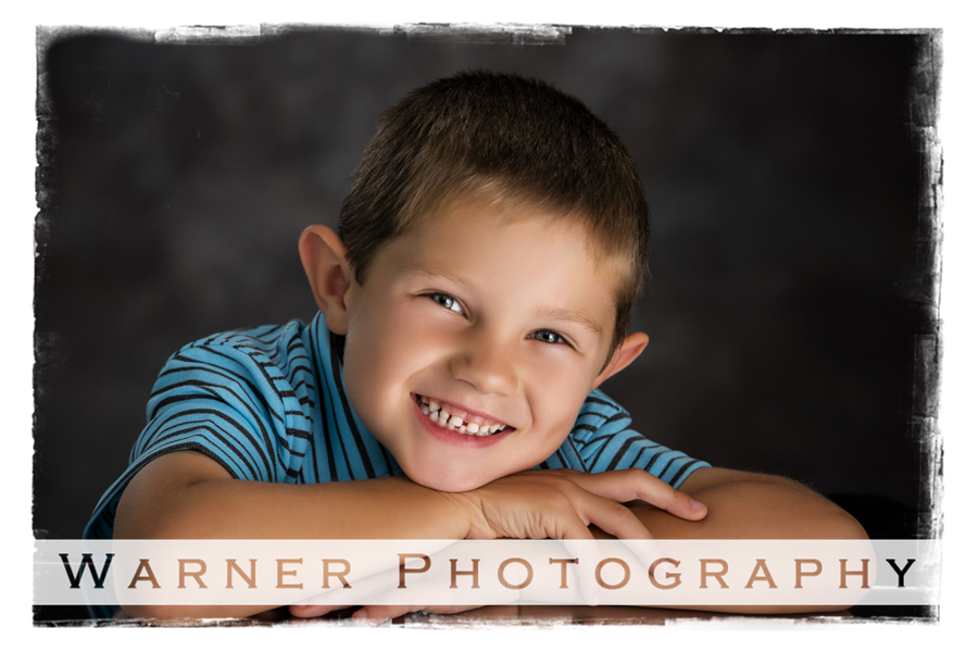 Studio Back to School session for Drew at Warner Photography