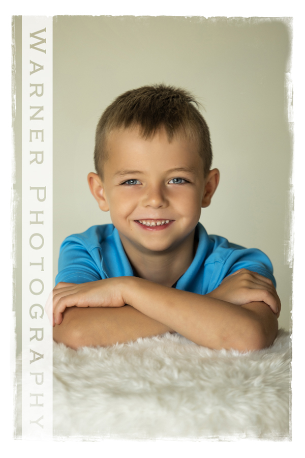 Studio portrait of Dillon for his Back to School session