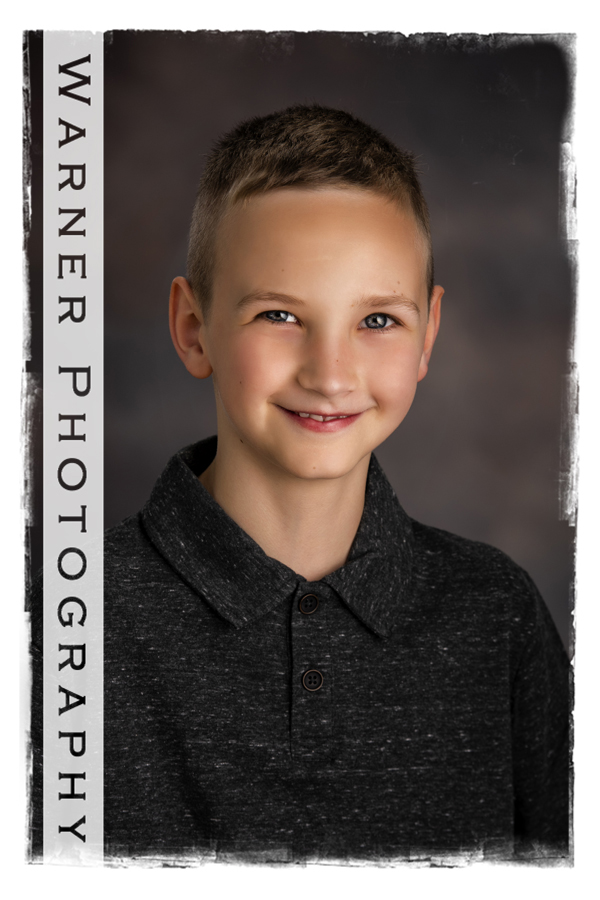 Studio portrait of Sam for his Back to School session