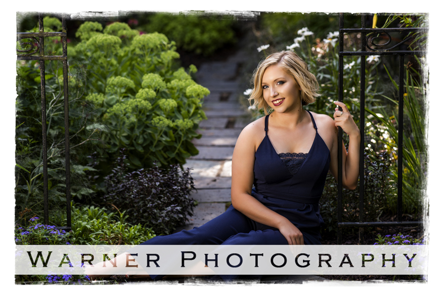 Outdoor senior portrait of Sarah at Dow Gardens