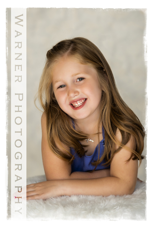 Studio portrait of Peyton for her Back to School session