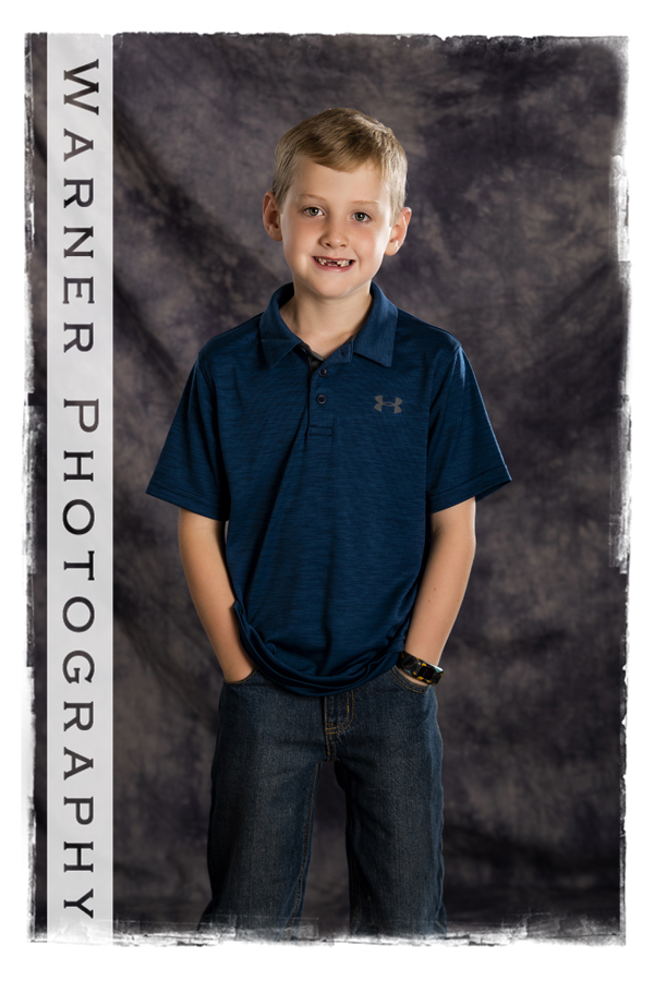 studio portrait of Andrew for his Back to School session