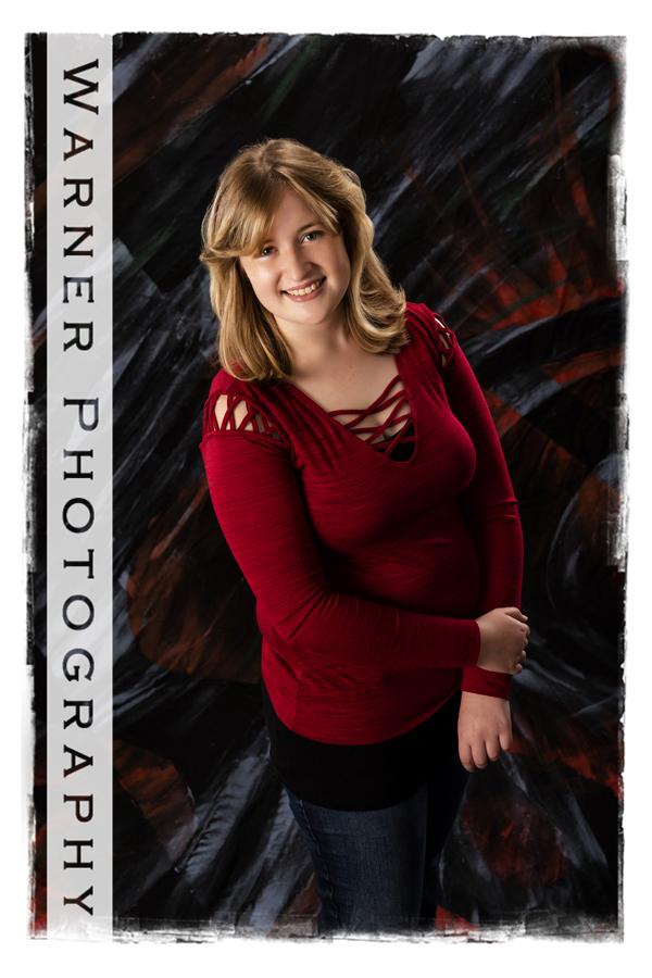 studio portrait of Dow High School senior Mikayla