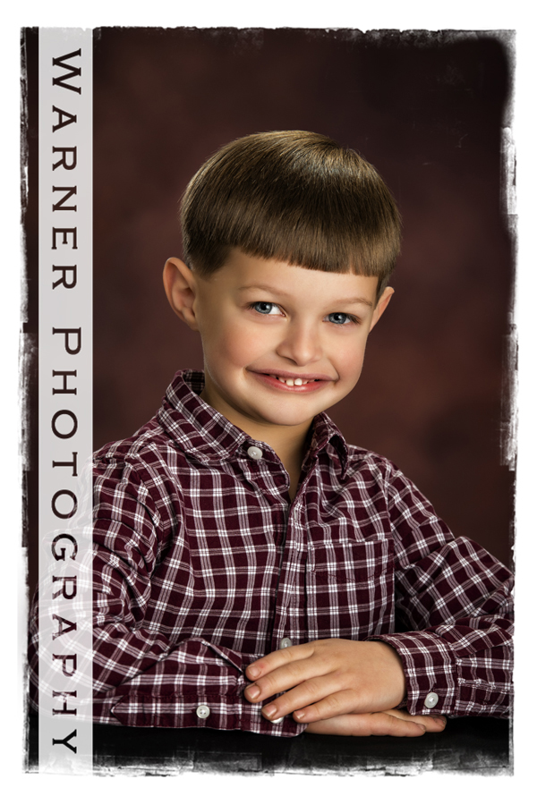 A studio portrait of Daniel for his Back to School session