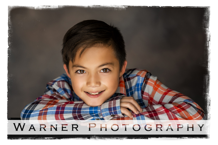 A studio portrait of Gregory for his Back to School session