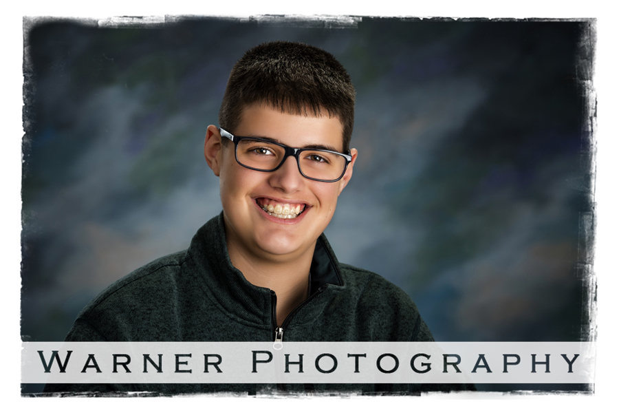 A studio portrait of Will for his Back to School session