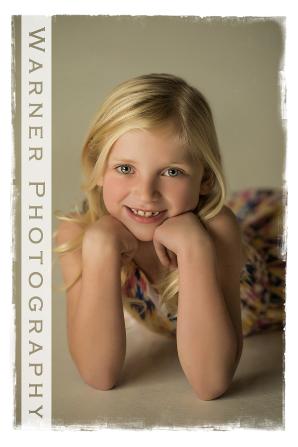 studio portrait of Claire for her Back to School session