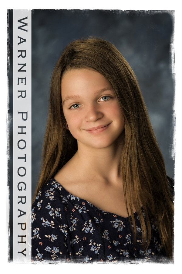 studio portrait of Grace for her Back to School session
