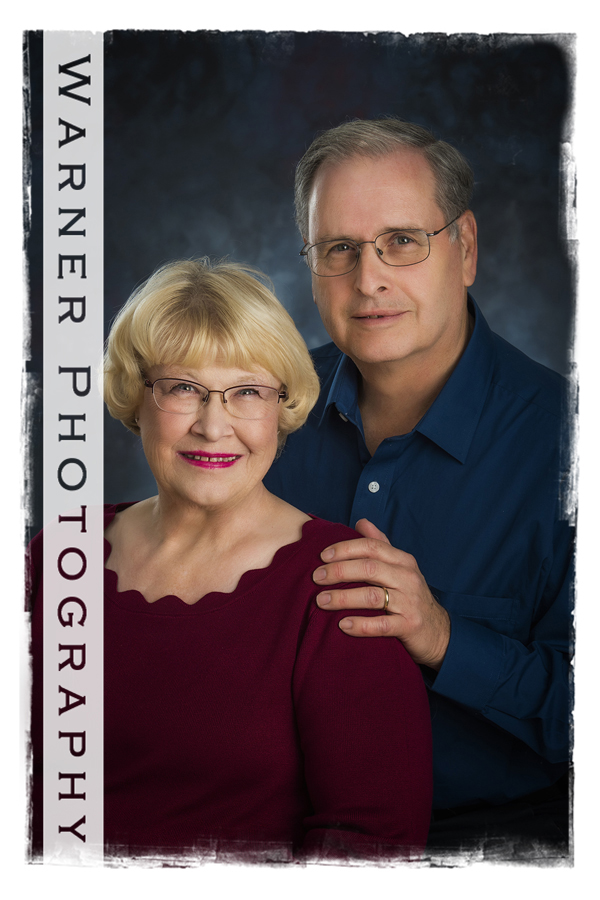 Mary and Edward at the studio for a classic 50th Anniversary portrait
