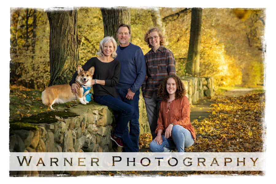 An outdoor portrait of the Newman family on Post Street in Downtown Midland