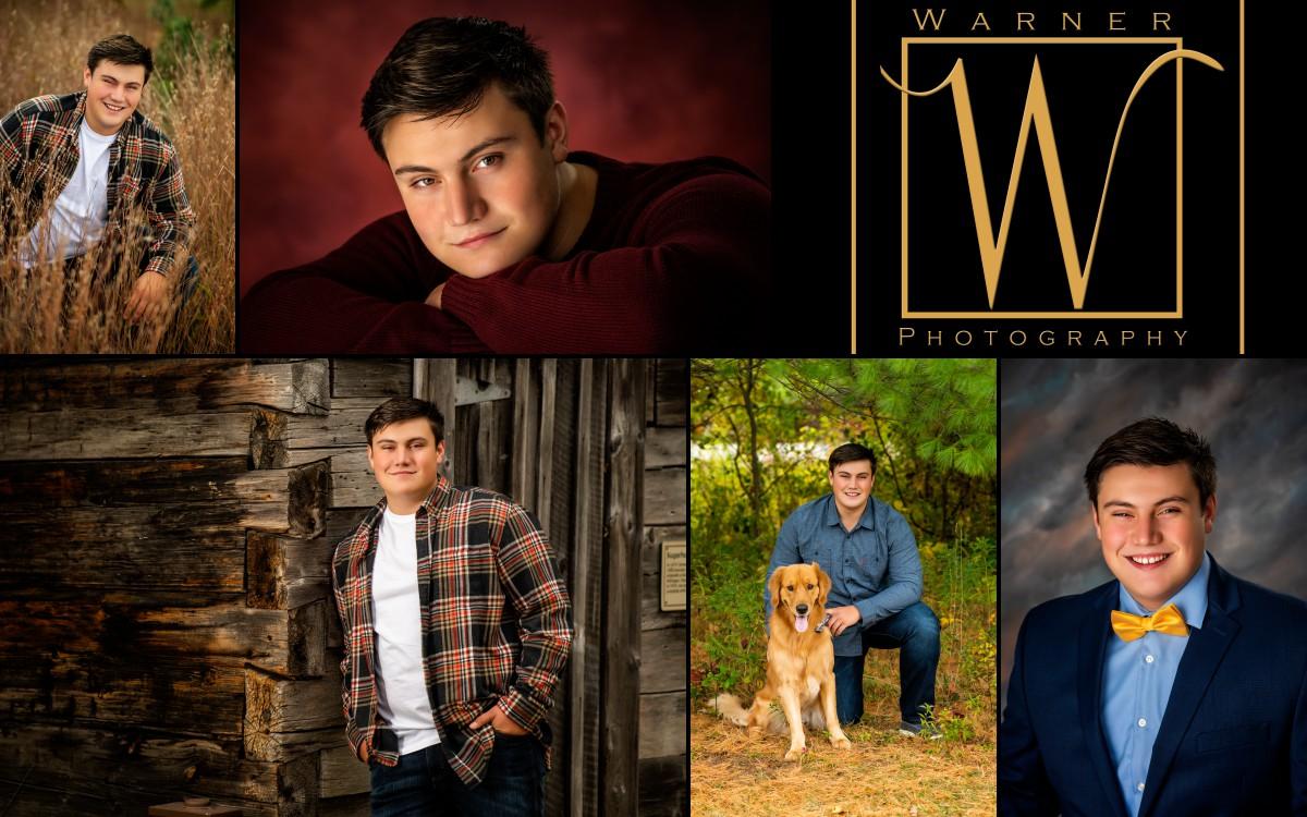 A collage of Midland High School senior Owen