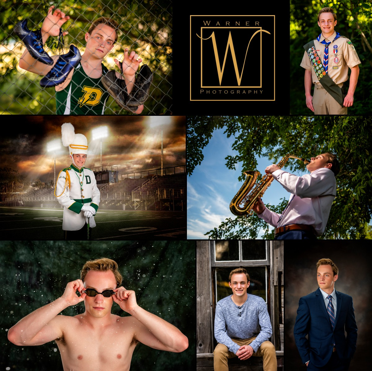 a collage of Dow High School senior Jake