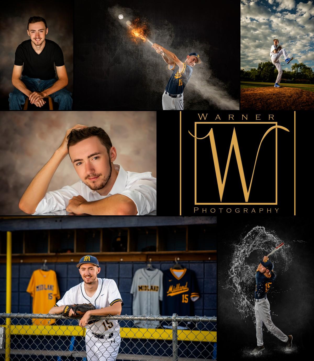 a collage of Midland High School senior AJ