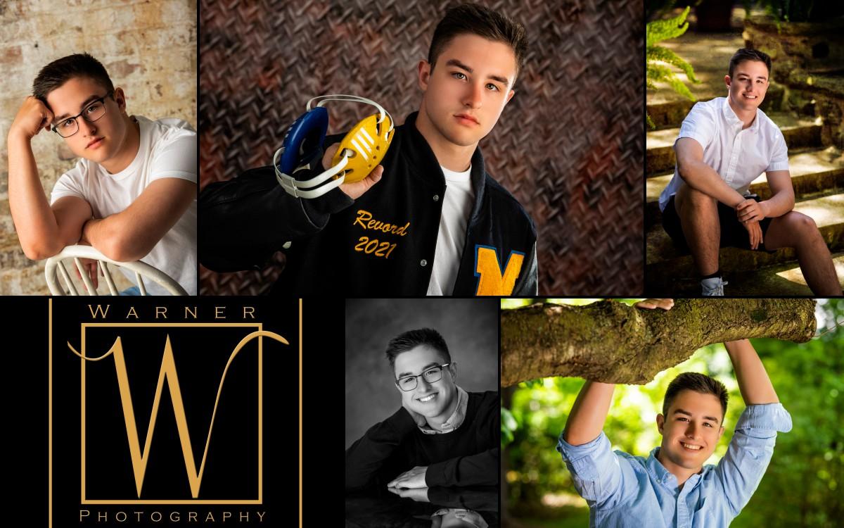 a collage of Midland High School senior Daniel