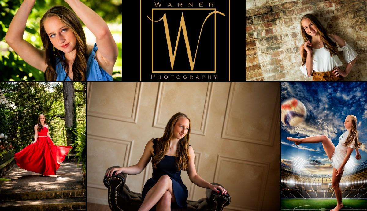 a collage of Midland High School senior Lauren