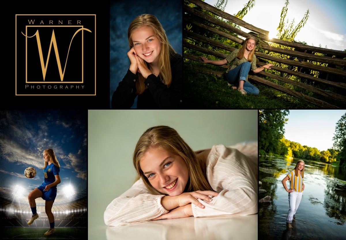 A collage of Midland High School senior Kim