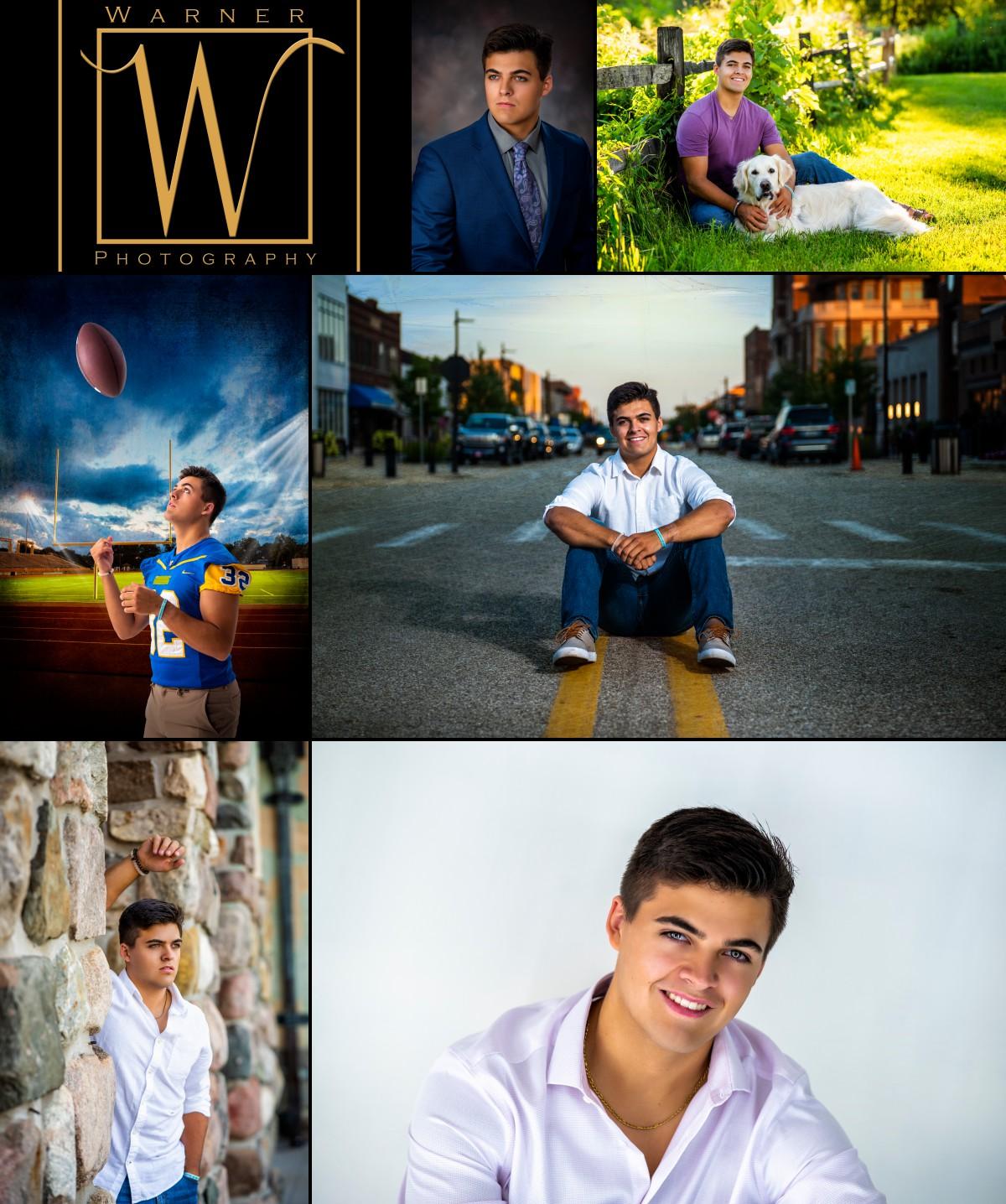 a collage of Midland High School senior Drew
