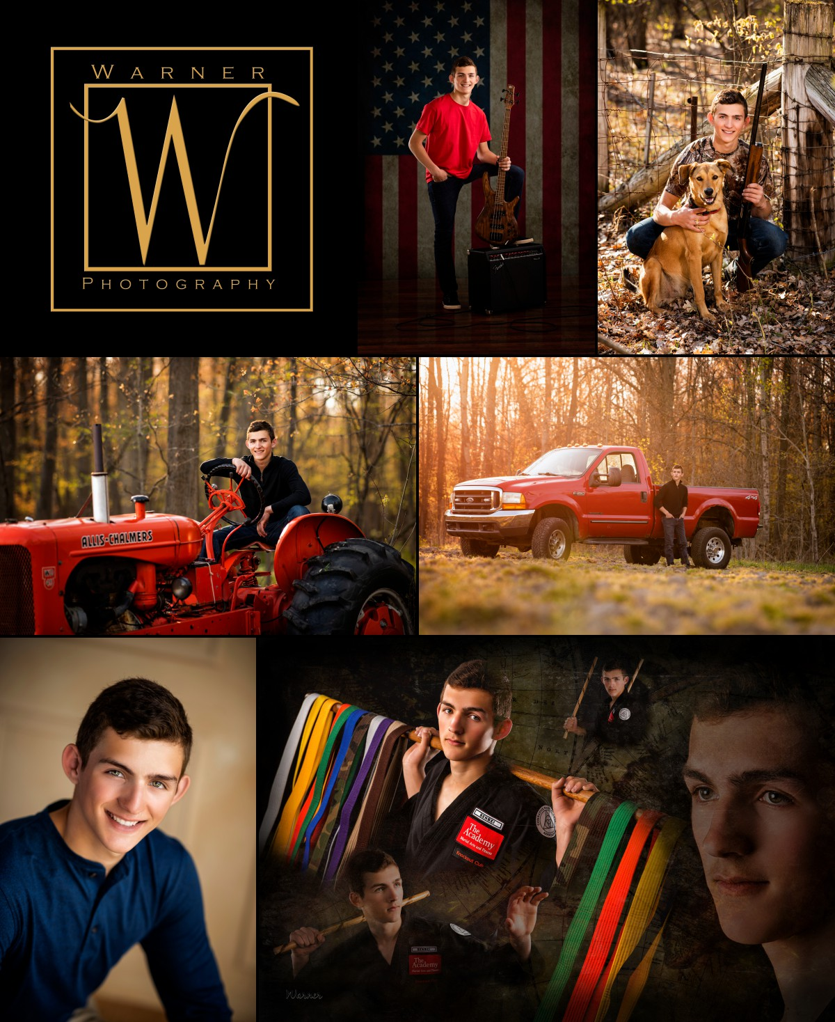 a collage of Bullock Creek High School senior Lucas