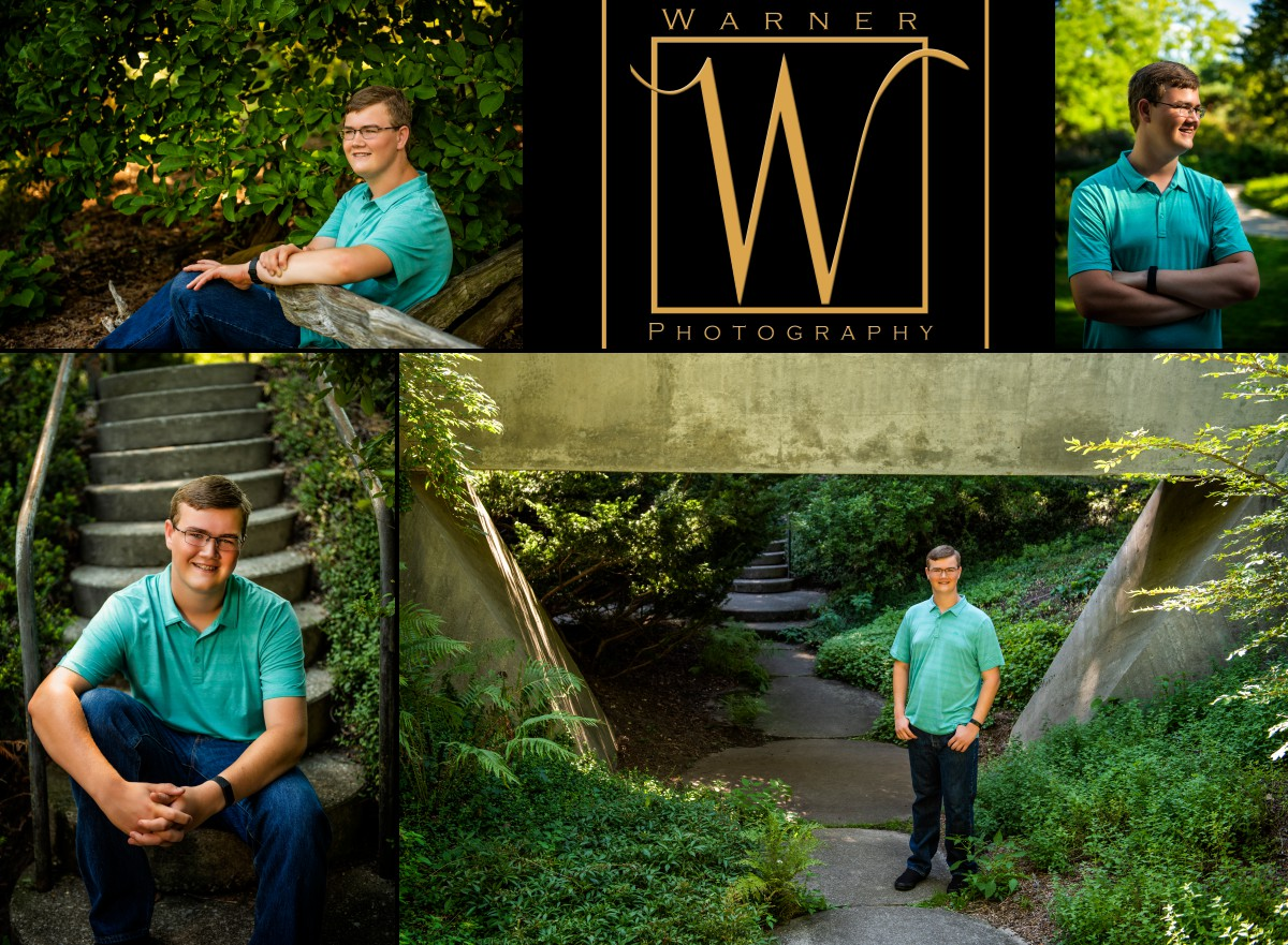 a collage of Dow High School senior Eoin