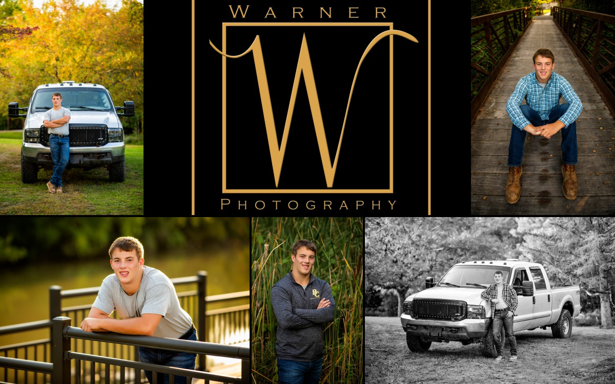 a collage of Bullock Creek High School senior Tyler at Chippewa Nature Center