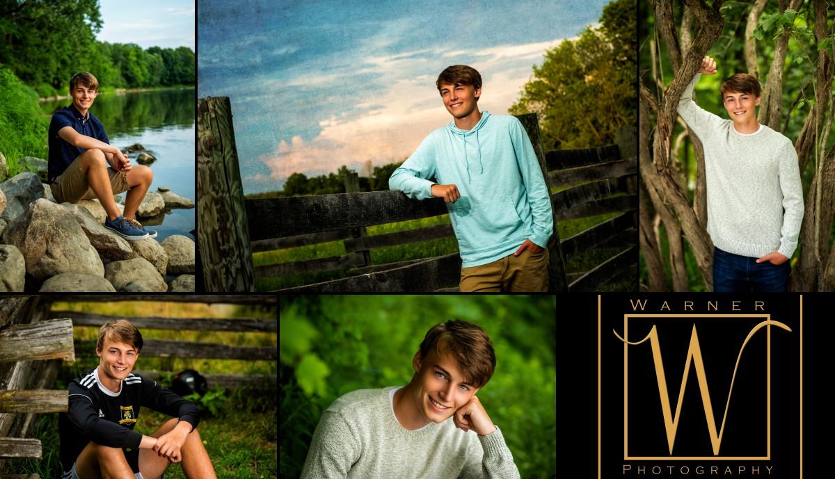 a collage of Dow High School senior Adam