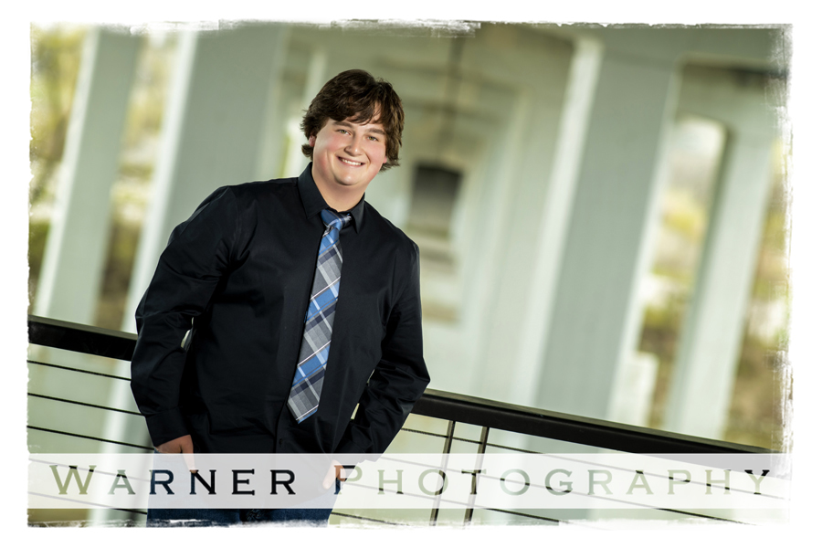 a portrait of Midland High School senior Eoin at Downtown Midland