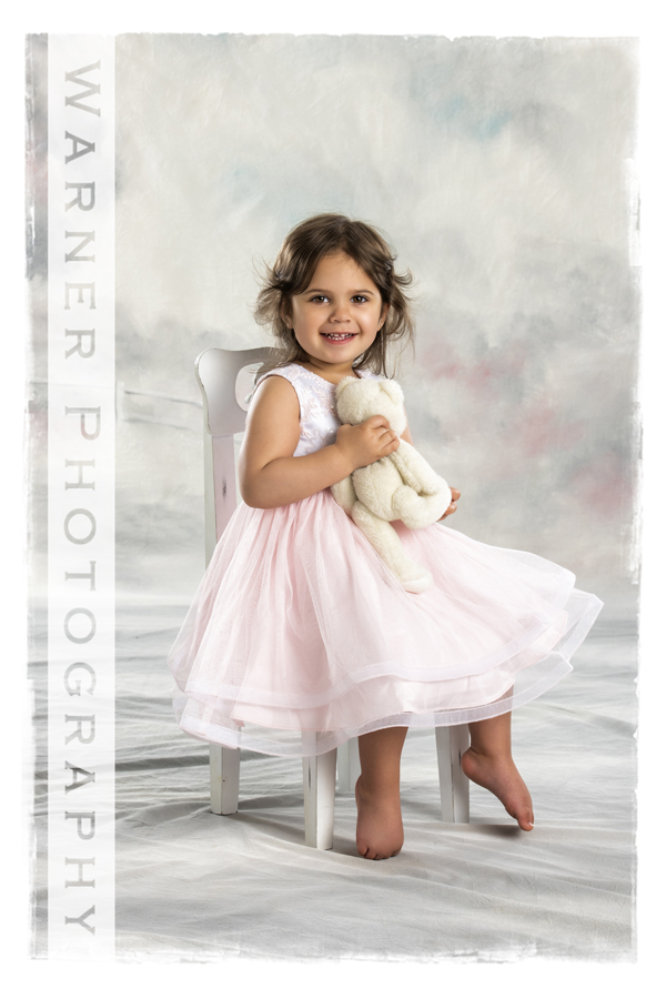 A studio portrait of Hope for her 2nd Birthday