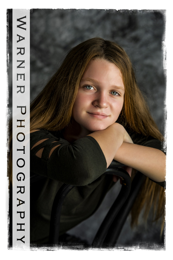 A studio portrait of Grace for her Back to School session