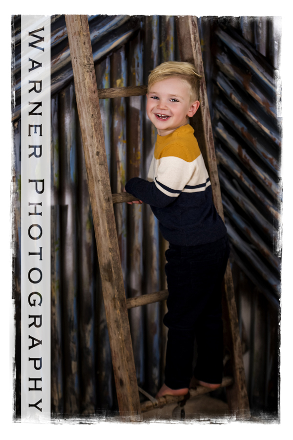 A studio portrait of Henry for his Back to School session